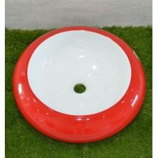 мивка порцеланова Интер Керамик бяло и червено 010RW