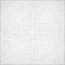 окачен таван ХПС ДЕЛТА №0808 0.5х0.5м/2кв.м в стек/бяло