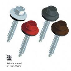винт за метални керемиди 4.8х20 червен  RT 20