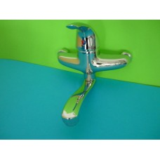 смесител за мивка стенен еднорък. 17см./2304/СИН