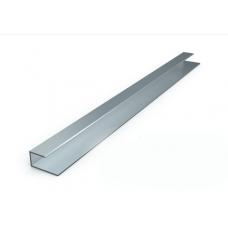 Алуминиева лайсна 10мм мат сребро завършващ ъгъл