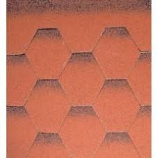 битумни керемиди пчелна пита червени-3кв.м - цена 7.85лв/м2