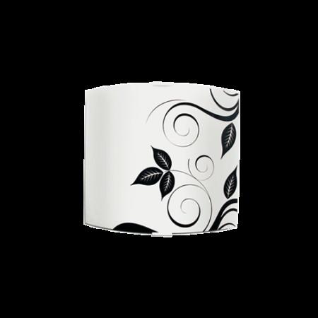 аплик квадрат 225*260 черен/бял ФЛОРА