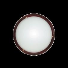 плафониера кръг МАХАГОН ДЪРВО ф300