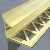 лайсна алум  10мм вътрешен ъгъл полирана злато
