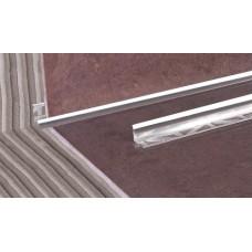 лайсна алуминиева 10мм вътрешен ъгъл матирана сребро