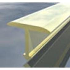 лайсна алуминиева преходна 20мм Т-образна матирана златна