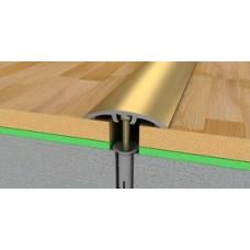 лайсна алуминиева преходна 40мм матирана златна 2.5м