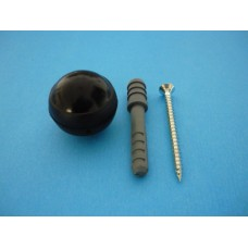 стопер за врата топка черна    BODBCZ-8х60