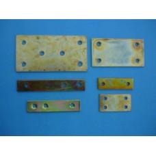 планка метална права 75х39