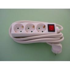 разклонител 3-ка СИНХРО 3м кабел + ключ