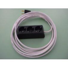 разклонител 3-ка трапец с 5м кабел