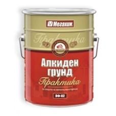 грунд алкиден червен 25кг. практика МЕГА