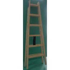 стълба дървена 1.95м./6 стъпала/
