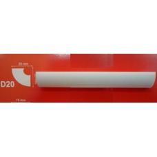 лайсна стиропор D20  2м/20х20мм/